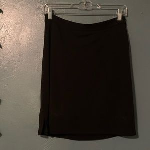 Soft/stretchy black pencil skirt with slit